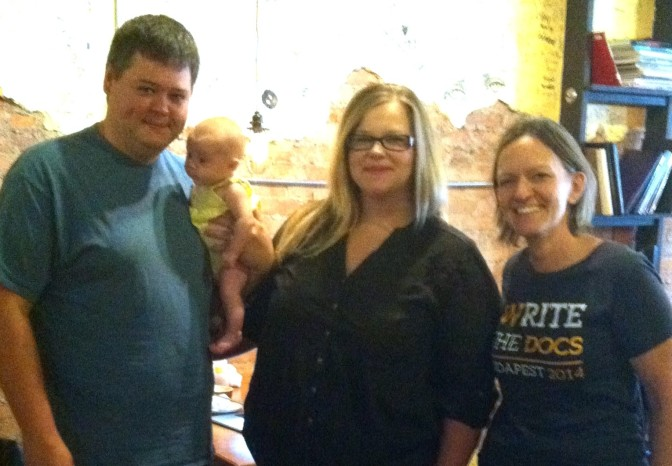 Brian, Laura, babby, and me