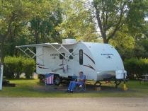 Chatting with Grandpa by Lake Ripley, Litchfield Minnesota